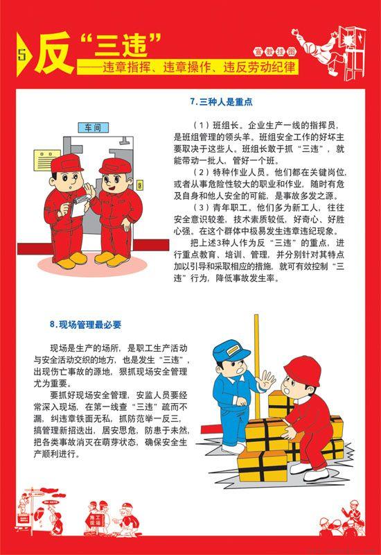 反违章指挥、违章操作、违反劳动纪律挂图挂图