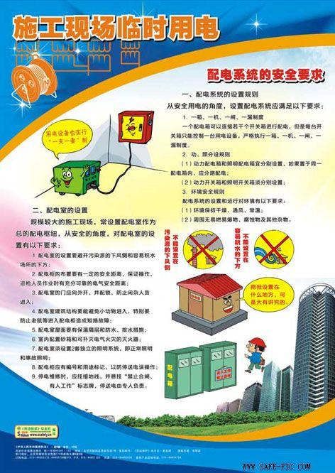 施工现场临时用电安全挂图;
