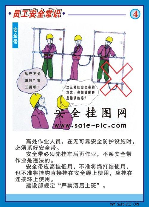 建筑员工安全常识挂图图片