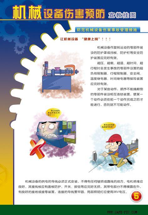 机械设备伤害预防挂图,机械安全生产挂图,安全挂图
