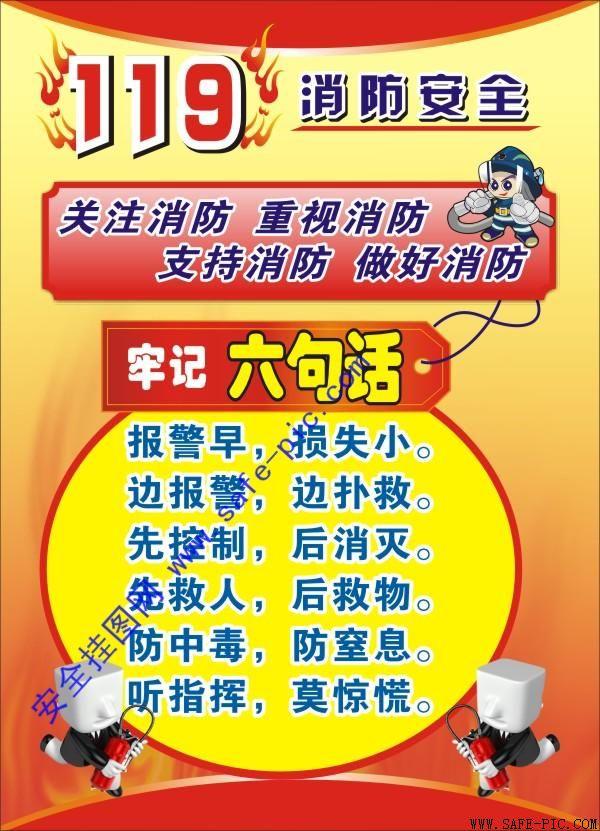 119消防安全挂图 AN2181图片