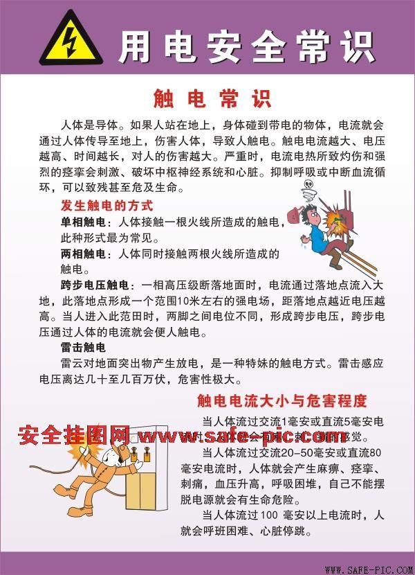 用电安全常识挂图 2012版