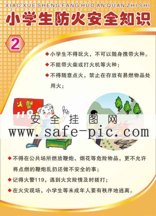 小学生防火安全常识海报