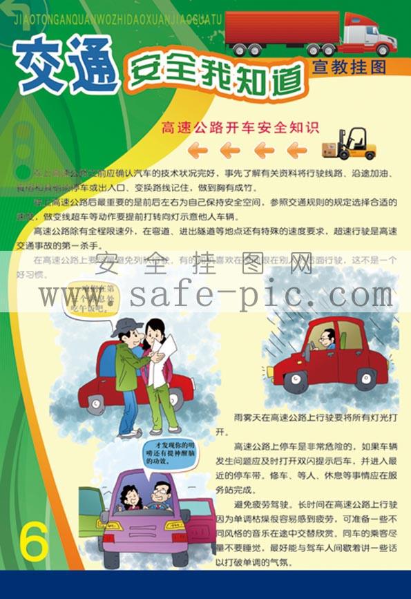 2014交通安全我知道宣教挂图 交通安全海报 宣传交通安全挂图 AN2421