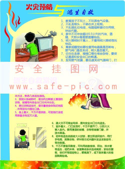 火灾预防与逃生自救宣传单