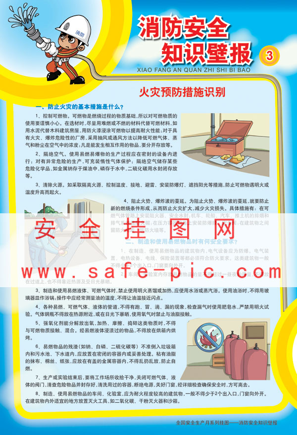消防安全知识壁报 消防知识宣传挂图 消防海报写真喷绘铜版纸 消防