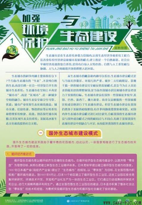 加强环境保护与生态建设宣教挂图