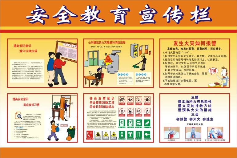 消防安全教育宣传栏; 安全宣传栏,安全月活动宣传栏 安全生产宣传栏图片