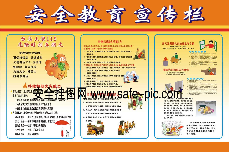 二年级消防安全教育囹�._消防安全教育宣传挂图