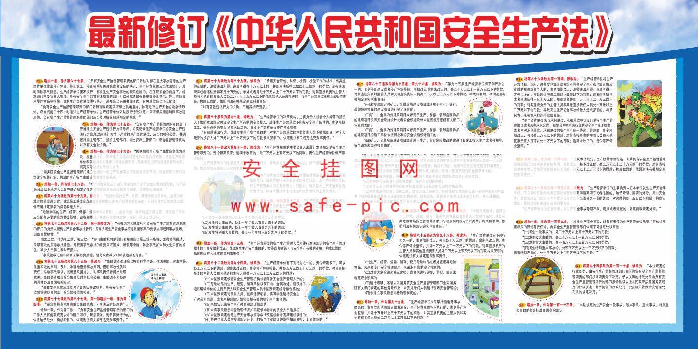 最新修订《中华人民共和国安全生产法》宣传栏 规格内容